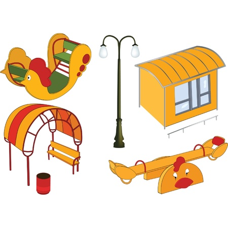 The complete set a childrens swing. Clip Art Vector