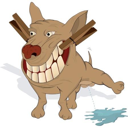 kampfhund: Sehr fr�hlich H�ndchen. Karikatur