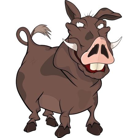Wild boar.Cartoon Vector
