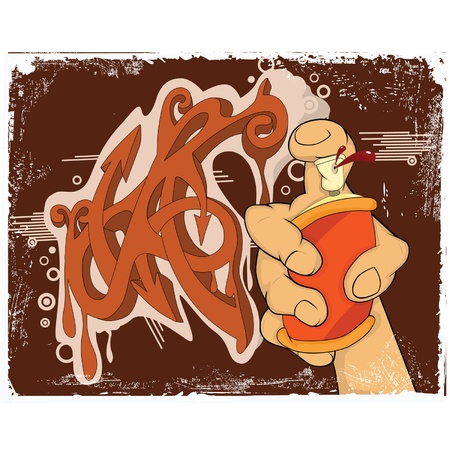 Graffiti. Cartoon  Vector