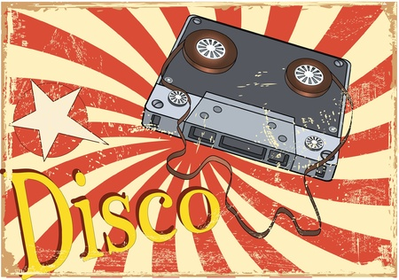 pop star: Audio cassette and the poster Illustration