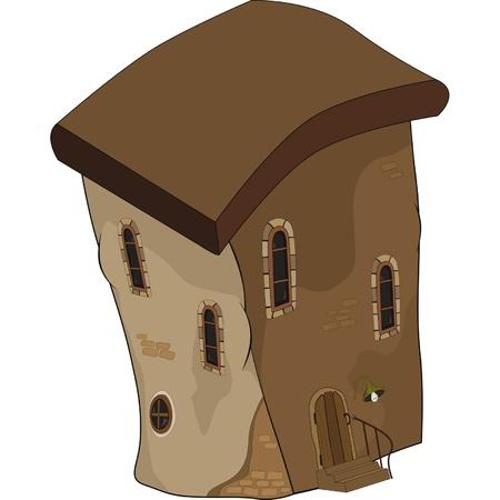 The old house from a fairy tale. Cartoon  Vector