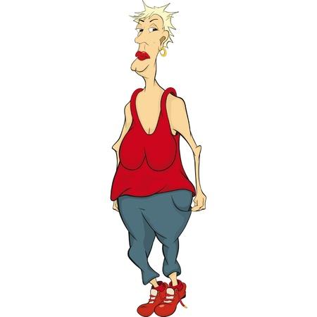 zapatos caricatura: La tía. Dibujos animados Vectores
