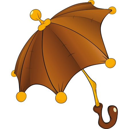 Umbrella. Cartoon Vector
