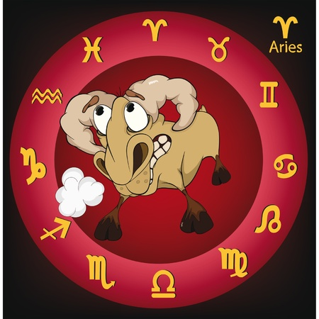 Zodiac signs. Aries. Cartoon Stock Vector - 11660960