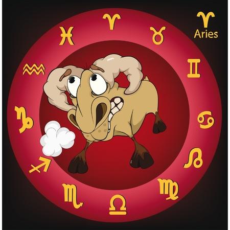 Zodiac signs. Aries. Cartoon Stock Vector - 11660960