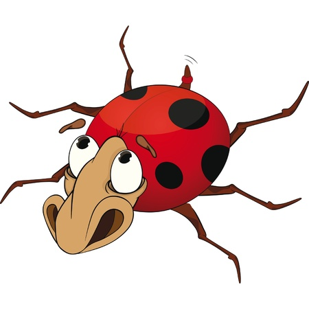 Sad ladybird from a fairy tale. Cartoon  Stock Vector - 11661001
