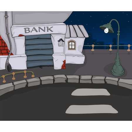 Night city. A landscape. Cartoon  Vector