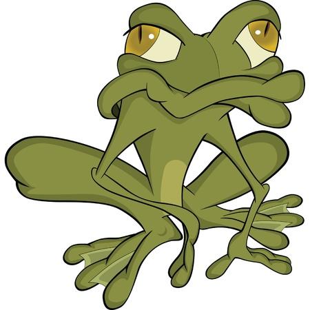 wart: The green toad. Cartoon
