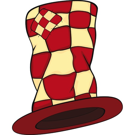 Magic hat. Cartoon Vector