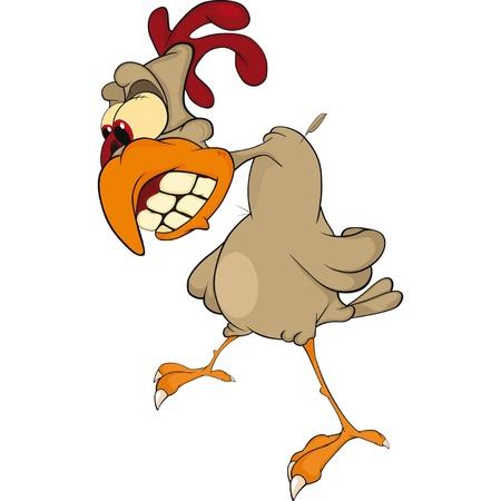 Cock . Cartoon