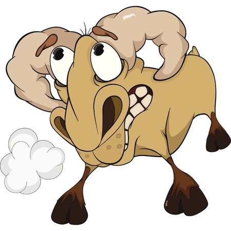 Malicious ram. A lamb.  Stock Vector - 11659424