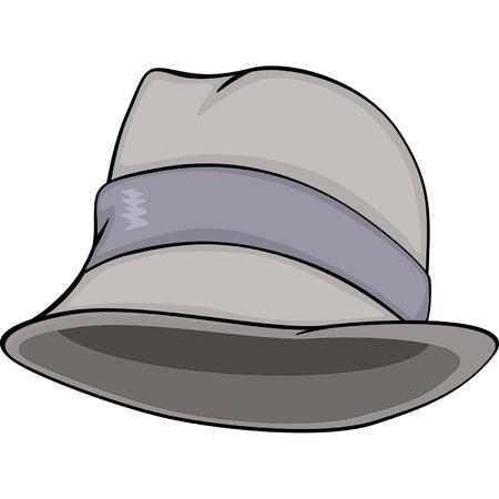 Stylish men hat. Cartoon