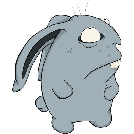 About a blue rabbit. Cartoon Stock Vector - 11819016