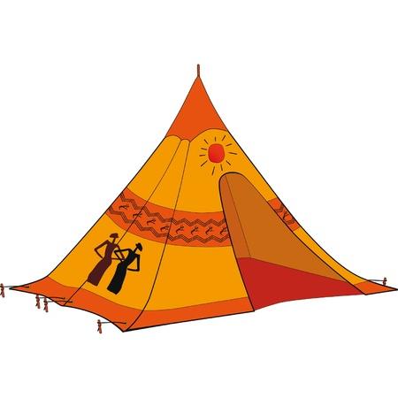 wigwam: American Indian wigwam