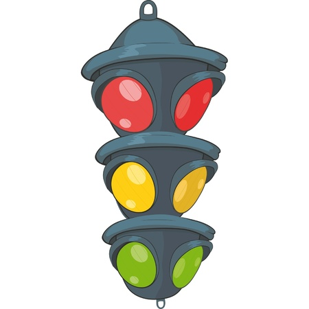 Traffic light. Semaphore. Cartoon  Vector