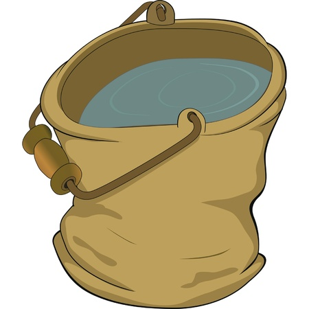 Bucket. Cartoon  Vector