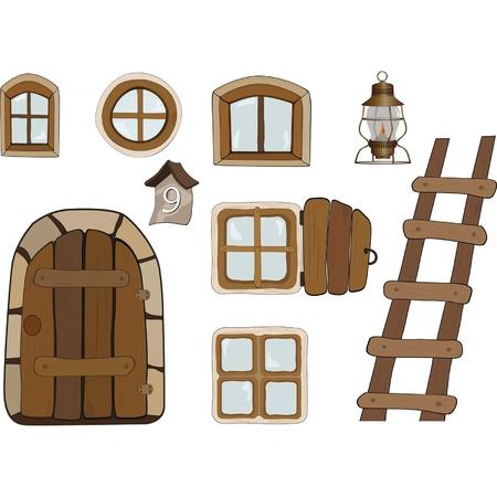 オブジェクトの構築。窓やドア