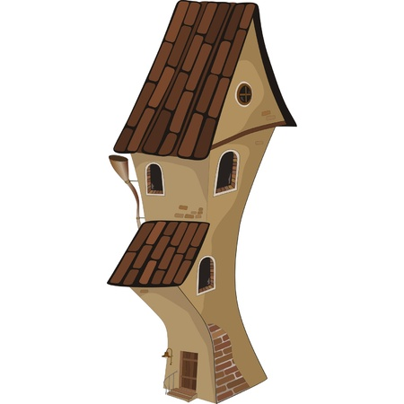 turret: The old house from a fairy tale. Cartoon