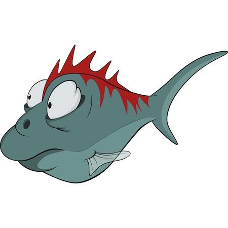 Deep-water fish. Cartoon Stock Vector - 11984925