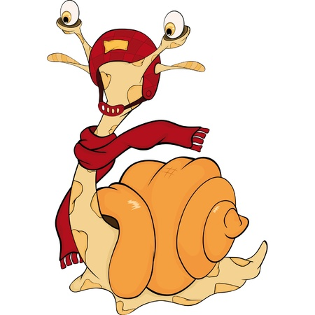 Snail. The monster. Cartoon  Vector