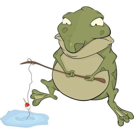 repulsive: Toad the fisher. Cartoon