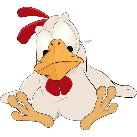 animal cock: Galletto. Cartone animato