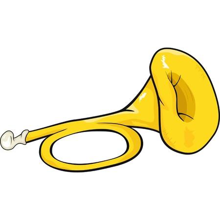 Musical pipe. Cartoon  Illustration