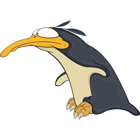 rey caricatura: Penguin. Dibujos animados Vectores