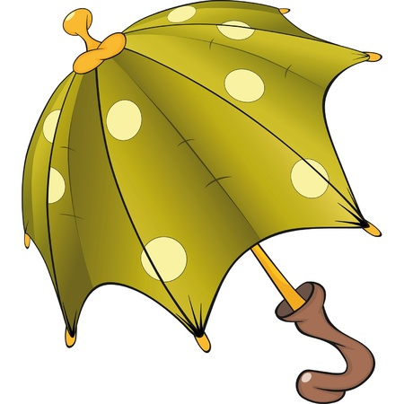 Green umbrella. Cartoon Stock Vector - 12210437