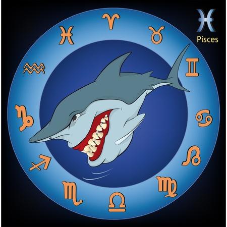 Pisces Zodiac Sign. Fish Stock Vector - 12210479