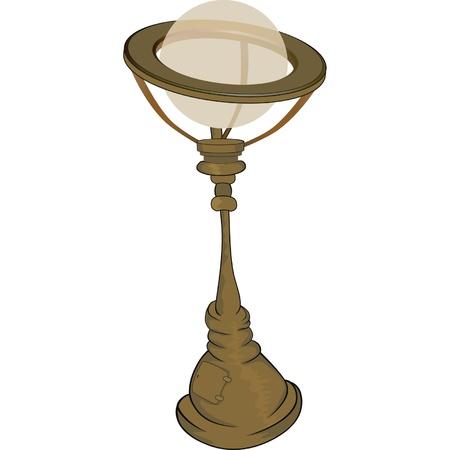 Street lantern,lamp. Cartoon  Vector