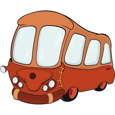 orange county: The bus. Cartoon