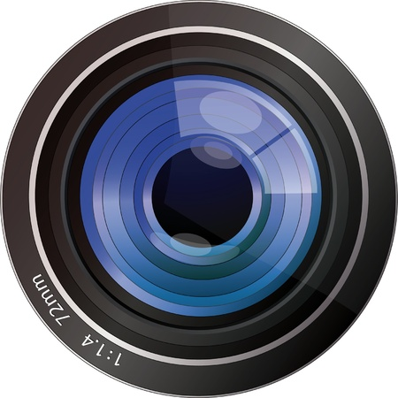 lens for the camera EPS 10 Vector