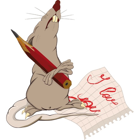 impudent: Rat, love and a note  Illustration