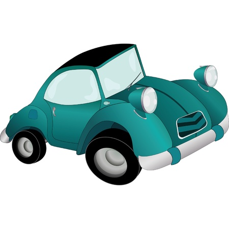 weariness: The toy car Illustration