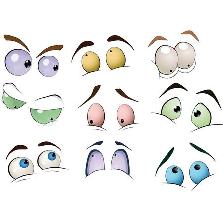 globo ocular: El conjunto completo de los ojos dibujados