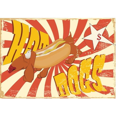hot dog advertising Vector