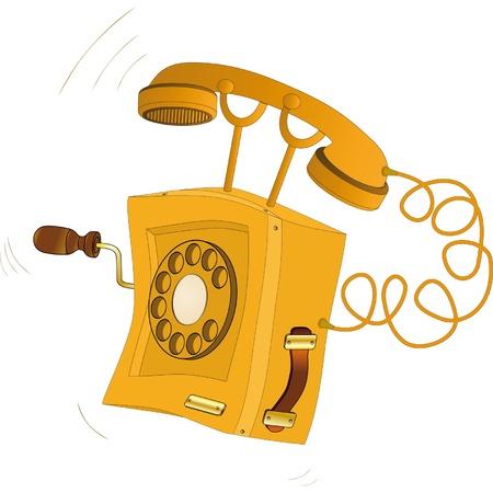 telephone cartoon: Old phone