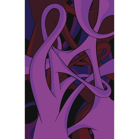 oriental poppy: Abstract pattern on a black background . Pop art  Illustration