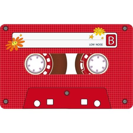 tape recorder: Audio Cassette Tape Illustration