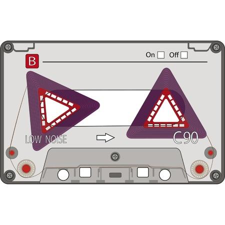New Design of an Audio Cassette Tape . EPS 10 Stock Vector - 12484455