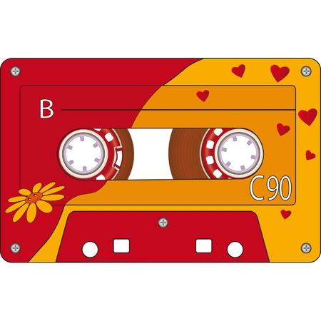 recorder: Audio Cassette Tape Illustration