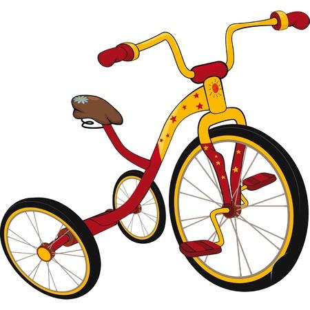 driewieler: Kinderen Stock Illustratie