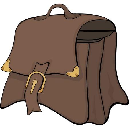 packing suitcase: Cartoon Bag Vettoriali
