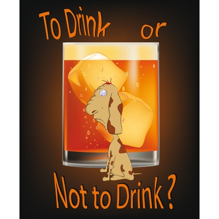 To drink or not to drink ? Stock Vector - 12484899