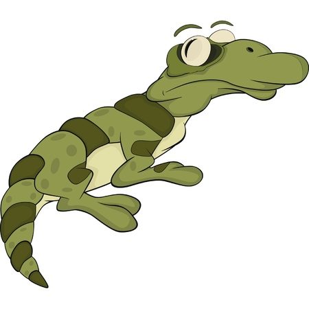 Lizard.Cartoon Vector