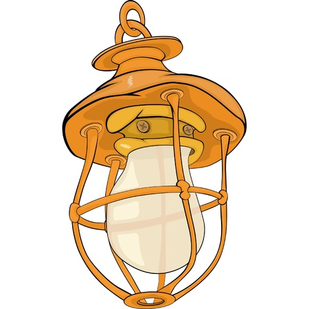 aglow: Old yellow lamp