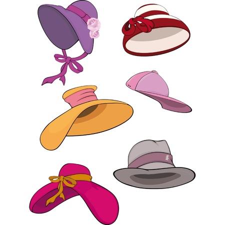女性の帽子の完全なセット