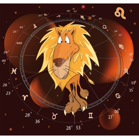 Sign on the zodiac a lion Vector
